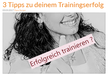 Drei Tips zum Trainingserfolg