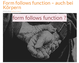 fff form follows function